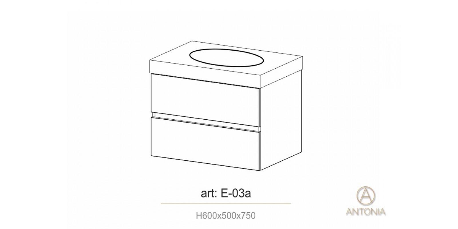 Dulap pentru lavoar - AE-03(750/950mm)